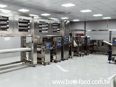 Layered puff pastry production line